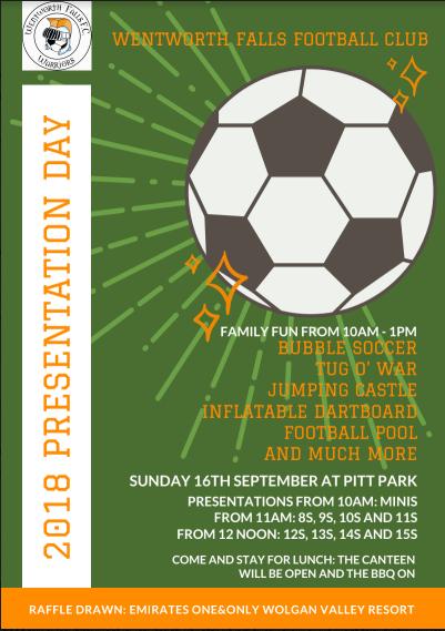 Wentworth Falls FC Presentation Day 2019